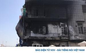 Hàn xì bất cẩn khiến căn nhà 3 tầng bị cháy