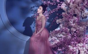 Hoa hậu Hoàng Dung khoe nét mong manh bên hoa