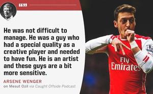 HLV Wenger tiết lộ bí quyết giúp Mesut Ozil phát huy tài năng