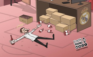 Biếm họa 24h: Perez sốc nặng khi thấy Casillas say bia của Messi