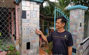 """Căn nhà """"nổi tiếng"""" ở Vĩnh Long có tường rào ốp bằng vỏ iPhone: Chủ nhân tiết lộ chi phí"""
