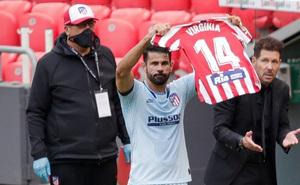 """Diego Costa """"giải cứu"""" Atletico, dành tặng bàn thắng cho đồng nghiệp u não"""