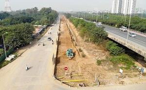 Phát hiện nhiều vi phạm tại dự án mở rộng đường gom Đại lộ Thăng Long