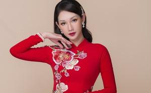 Hot girl Quỳnh Chi xinh đẹp khi diện áo dài cưới