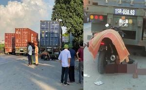 Nam thanh niên tông mạnh vào đuôi xe container, tư thế tử vong gây ám ảnh