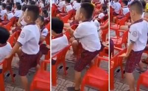 Đi dự lễ tổng kết năm học, cậu nhóc lập tức chiếm sóng MXH vì làm khán giả mà nhảy máu lửa hơn cả trên sân khấu
