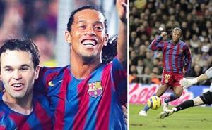 Iniesta tiết lộ bí mật khó tin trước ngày Ronaldinho chói sáng tại Bernabeu