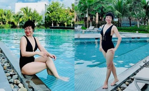 Hình ảnh bikini hiếm hoi của MC Thảo Vân