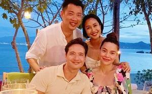 Ốc Thanh Vân hội ngộ gia đình Hà Hồ trong kỳ nghỉ sang chảnh, tiện dành lời chúc phúc cho mẹ bầu và Kim Lý