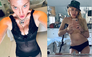 """""""Nữ hoàng nhạc pop"""" Madonna khoe thân hình gợi cảm khó tin ở tuổi 62"""