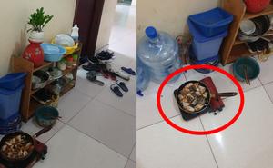 Cô nàng bức xúc vì nhân viên một công ty nấu ăn ở hành lang toà nhà, góp ý còn bị mắng