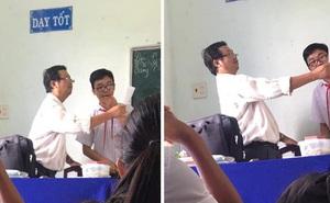 """Học sinh tẽn tò vì bị điểm kém nhưng thầy giáo đứng cạnh có pha """"tấu hài"""" mặn chát"""