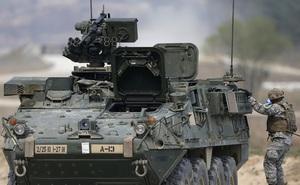 Xe bọc thép Mỹ gặp nạn khi tới căn cứ gần biên giới Triều Tiên