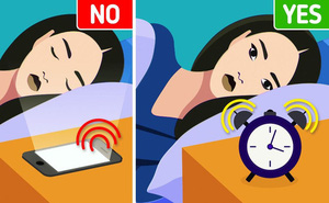 Tại sao không nên sử dụng điện thoại làm đồng hồ báo thức?