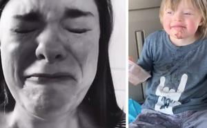 Bày tiệc sinh nhật cho con bị bệnh Down nhưng chỉ có 1 bạn đến dự, bà mẹ quay clip khóc ròng vì thương con thu hút 7 triệu lượt xem