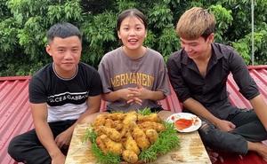 Em gái Hưng Vlog rủ các anh lên 'nơi nguy hiểm nhất' để ngồi ăn gà rán, tim đập thình thịch vẫn ăn uống ngon lành