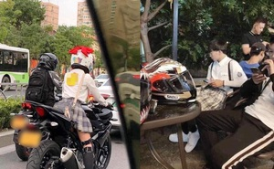 Nữ sinh đi xe phân khối lớn siêu ngầu khiến cả phố tò mò, sự thật phũ phàng khi nàng lột mũ bảo hiểm