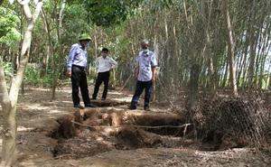 Xuất hiện hàng loạt hố sụt lún trong vườn nhà, dân cầu cứu chính quyền