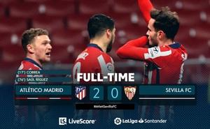 Atletico Madrid 2-0 Sevilla: Atletico nới rộng khoảng cách trong cuộc đua vô địch!