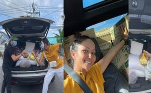 Hoa hậu H'Hen Niê xuống tay chăm sóc Ford Explorer sau những ngày tháng bị 'bóc lột' với cả tấn hàng hóa