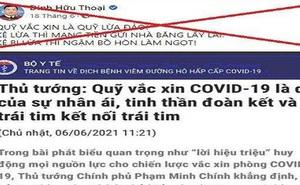 Đăng tin sai sự thật về Quỹ vắc xin, người đàn ông ở Quảng Nam bị phạt 7,5 triệu đồng