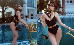 Ngọc Trinh diện bikini bốc lửa, khoe dáng ở biệt thự xa hoa