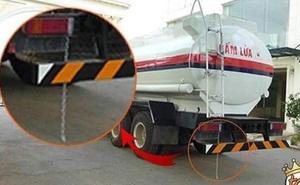 Tại sao xe bồn chở xăng, dầu lại treo một sợi dây xích dài phía sau?