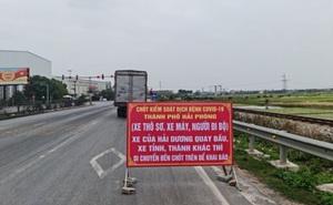 """Hải Dương """"nhờ"""" Bộ GTVT """"gỡ"""" phong tỏa để hàng hóa qua Hải Phòng"""
