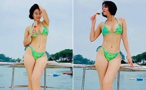 Ảnh bikini nóng bỏng, gây chú ý ở độ tuổi U50 của Thu Minh