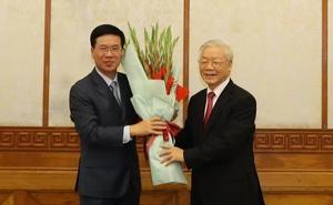 Ông Võ Văn Thưởng giữ chức Thường trực Ban Bí thư, ông Trần Tuấn Anh giữ chức Trưởng Ban Kinh tế Trung ương