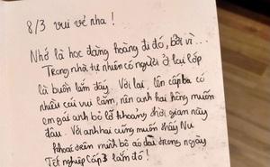 Nam sinh lớp 11 viết thiệp cho em gái nhân ngày 8/3,  từng câu chữ khiến anh gia sư lặng người