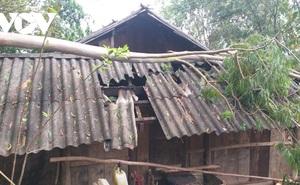 Mưa đá làm thiệt hạinhiều hoa màu, nhà ở của người dân Sơn La