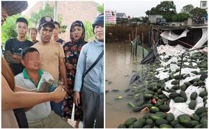 Xe tải gặp nạn, dưa hấu đổ xuống sông: Người dân Quảng Bình hỗ trợ tài xế bán hết toàn bộ số hàng