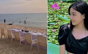 Lọ Lem - ái nữ nhà MC Quyền Linh đón sinh nhật tuổi 16 ở Phú Quốc, nhìn bàn tiệc trên bãi biển là biết xịn cỡ nào