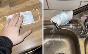 Thử trend quấn khẩu trang vào vòi nước để kiểm tra độ sạch, chàng trai sửng sốt với kết quả cuối cùng, dân tình lại nổ ra tranh cãi