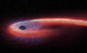 Kinh hãi ngôi sao hình... sợi mì, quấn chặt lỗ đen quái vật