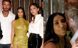 Victoria nổi trận lôi đình vì David Beckham tán tỉnh, hôn hít Kim Kardashian ngay trong sinh nhật mình?