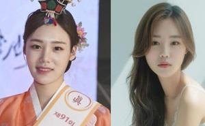 Hoa hậu truyền thống Hàn gây sốc với gương mặt méo xệch khi đăng quang, kéo đến ảnh đời thường lại há hốc vì visual thần thánh