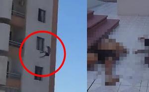 Cô gái xinh đẹp bị bạn trai ném từ tầng 12 xuống đất tử vong, cảnh hiện trường rùng mình được hàng xóm ghi lại