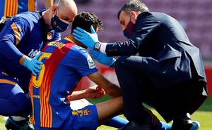 Dính đòn của Savic, Busquets bị gãy xương hàm