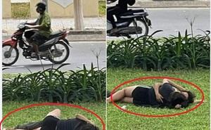 Cặp đôi ngang nhiên 'thân mật' ngay bãi cỏ ven đường khiến dân mạng phẫn nộ