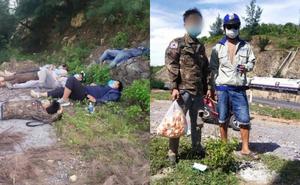 Nhóm lao động đi xe máy từ Sài Gòn về Nghệ An ngủ bên vệ đường, hành động của anh thợ hồ Quảng Bình gây xúc động