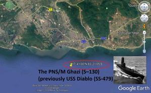 Tàu ngầm Pakistan nổ tung trong lúc đi săn tàu sân bay Ấn Độ: Bí ẩn