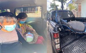 Tin vui đến với gia đình bé 10 ngày tuổi vượt hàng nghìn km bằng xe máy về quê tránh dịch