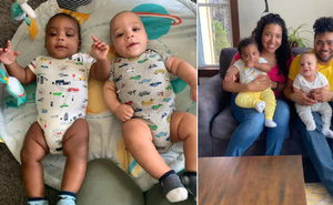 Đẻ sinh đôi nhưng 2 bé mang màu da khác nhau, bà mẹ trẻ khẳng định là cùng 1 bố đấy