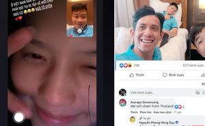 """Thành Chung hạnh phúc vì bạn gái chờ đến 3h sáng để được gọi điện, Hồng Duy nhận lời chúc từ """"fan"""" Thái Lan đặc biệt"""