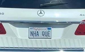 Khóc dở cười dở trước 1001 cách đặt biển số xe của người Việt tại Mỹ - Có người rất yêu trái mướp đắng?