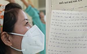 """Người phụ nữ F0 từng muốn """"cắn lưỡi tự tử"""", để lại bức thư tay tạ lỗi trước khi xuất viện, năn nỉ bác sĩ đừng giận mình"""