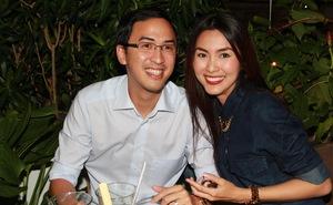 Tăng Thanh Hà ngại thân mật chồng giữa đêm tiệc