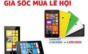 Nokia giảm giá sốc hai mẫu Lumia 520 và 625